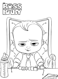 print boss baby 2 like a boss president coloring pages games