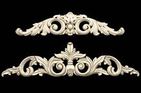 specialty products wood ornaments acanthus appliques