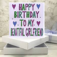 personalised girlfriend birthday book card by claire sowden design