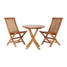 Teak Patio Dining Set - shop all things cedar 3 piece natural teak bistro patio dining set