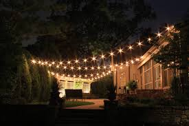 Patio Cafe Lights by Fine Decoration Backyard Lighting Tasty Patio Lighting Ideas