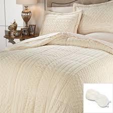 Fur Bed Set Sale Highgate Manor Faux Fur 3 Piece Comforter Set With Eye Mask