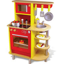 jouet de cuisine cuisinière en bois la cuisine du chef vilac magasin de jouets