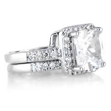 cubic zirconia halo engagement rings cubic zirconia halo princess cut wedding ring set