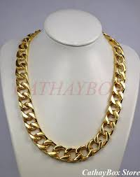 all necklace images Men 39 s chunky solid thick all 18kgp gold finish stainless steel jpg
