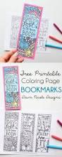 free printable coloring bookmarks free printable bookmarks