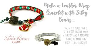 wrap bracelet with charms images Leather wrap bracelet with silky beads charms jpg