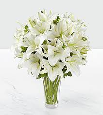 bouquet of lilies the spirited grace bouquet by ftd vase included