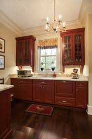 Wood Kitchen Cabinets With Wood Floors by Red Kitchen Cabinets Pictures Of Red Kitchen Cabinets Best 20