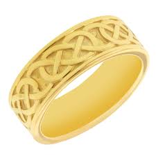 the gents wedding band keith celtic knot belston wedding band in 10kt yellow