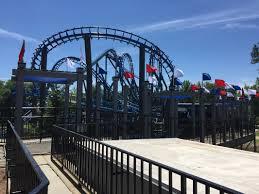 Six Flags Rides Ga The Ninja Blues U201d Blue Hawk Media Day At Six Flags Over Georgia