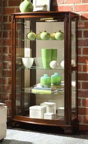 Curio Cabinets With Glass Doors Furniture Elegant Mahogany Curio Cabinets With Glass Door And