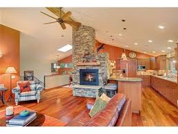 Traditional Double Sided Kitchen Fireplace Like Idea Of It Being In Between Kitchen And Living