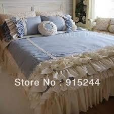 Free Bed Sets Pink Ruffle Princess Cotton Duvet Cover Wedding Bedding Set