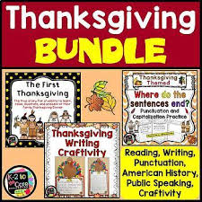 thanksgiving bundle reading writing american history