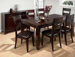 chocolate dining room table dining room the enticing 7 piece dining room table set for in