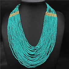 multi layered bead necklace images Bohemian multilayer beads necklace women accessories multi layer jpg