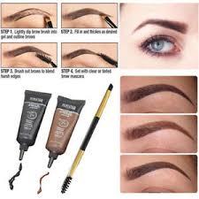 henna makeup eyebrow brush kits waterproof henna eyebrow gel black brown makeup
