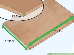 Beer Pong Table Size 3 Ways To Make A Beer Pong Table Wikihow