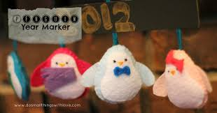 Felt Penguin Christmas Ornament Patterns - penguin year marker with free template u2013 do small things with love