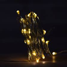 led fairy string lights battery operated fairy string lights w timer 6 warm white