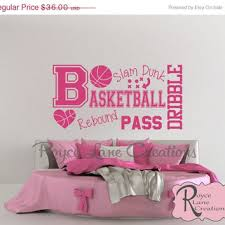 Sports Decals For Kids Rooms by Sale Basketball Word Art Wall Decal B31 Sports Vinyl Wall Decal