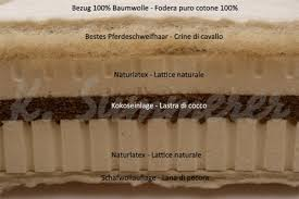 materasso bio materasso naturale in cocco e lattice mod bio plus soft