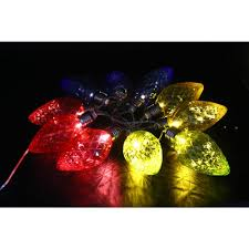 alpine 10 light led light bulbs with multi color decorative string