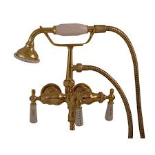 pegasus 3 handle claw foot tub faucet with style spigot and