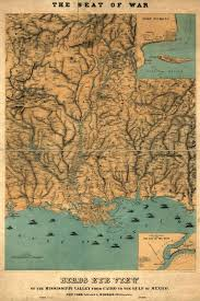 map of the gulf of mexico civil war era maps gulf of mexico in light