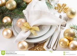 Christmas Table by Gold Christmas Table Stock Images Image 7637254
