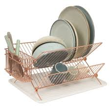 copper wire dish rack metal dish drainer