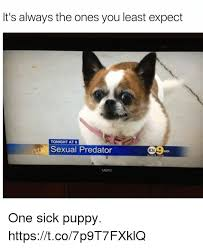 Sick Puppy Meme - it s always the ones you least expect tonight at 8 sexual predator