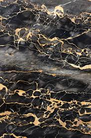Gray And Gold Dark Gray And Black Marble With Golden Veins Fill Frame Stock
