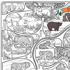 endangered species coloring pages great2bcolorful endangered animals coloring poster 60 x 36 at the zoo