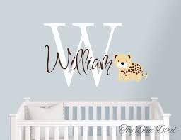 personalized football wide receiver wall decal removable football childrens monogram name boys girls name leopard decal wall decal name name