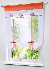 vertical blinds amazon black friday amazon com uphome 1pc cute embroidered animal owls tie up roman