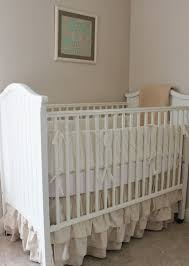 Crib Bed Skirt Diy Namely Original Diy Ruffled Crib Skirt And Wall