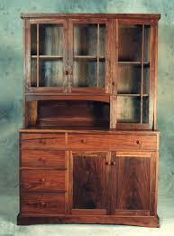 dining room black walnut wood china cabinets and hutches for