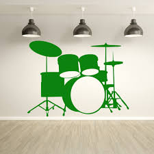drum kit drums percussion musical notes instruments wall drum kit drums percussion musical notes instruments wall stickers music decals