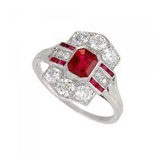 ruby engagement rings tiffany u0026 co tiffany u0026 co art deco ruby diamond and platinum ring
