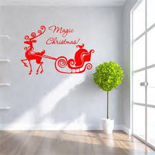 popular magic wall decor buy cheap magic wall decor lots from magic christmas carriage wall stickers vinyl home wall decor decals decoration drop shipping creative personality special