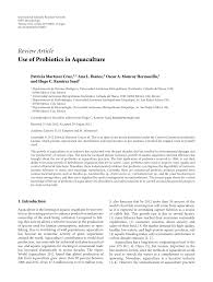 use of probiotics in aquaculture pdf download available
