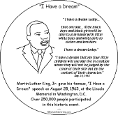 free printable martin luther king coloring pages martin luther king jr book to print enchantedlearning com