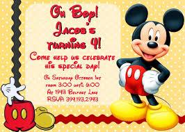 Birthday Invitation Card Design Mickey Mouse Birthday Invitation Blueklip Com