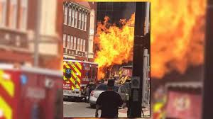 cut gas line in downtown dallas sparks fire wfaa com