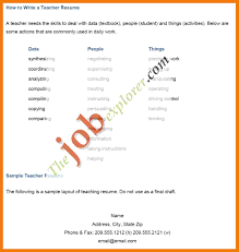 sample of teaching resume cv form cv format free cv templates in word format free cv with 79 resume templates for teaching jobs example sponsor letter biodata for teacher job 10071064 download teacher resume