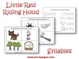 red riding hood literacy activities for pre k and kindergarten