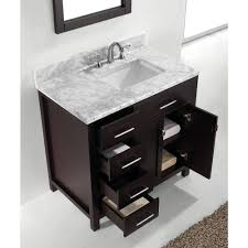 Bathroom Vanity With Offset Sink Abodo 36 Inch Espresso Finish Single Sink Bathroom Vanity With