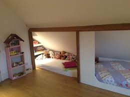 bedroom in the attic reading nook under the roof and a place